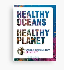 Style 1: World Oceans Day poster Canvas Print