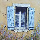 Blue shutters and Lace by FranEvans