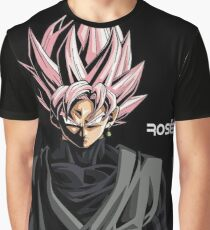 Rosé Goku Black Dark Theme Graphic T-Shirt