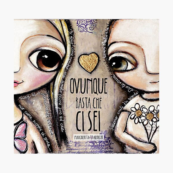 Child Lovers with big eyes Photographic Print