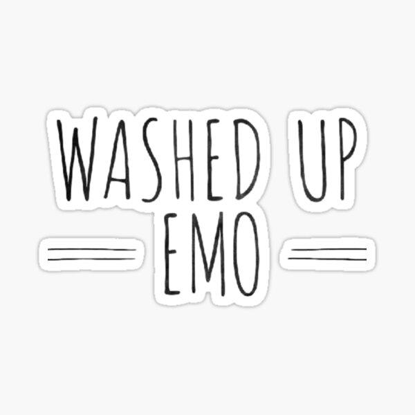 Verwaschen Emo Sticker