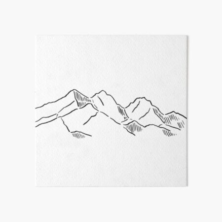 Mountain range Art Board Print