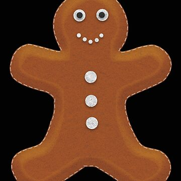 Gingerbread Man Felt Effect Christmas Design by kudostees
