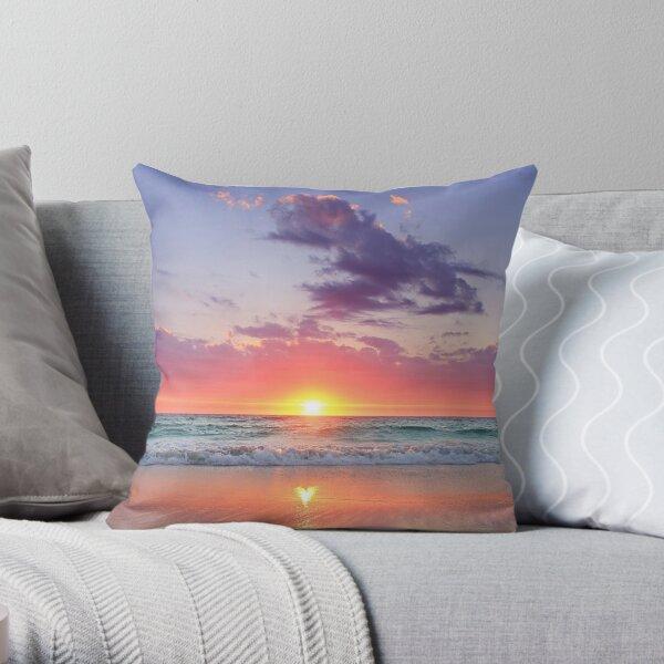 Sunset Beach Pillows Cushions Redbubble
