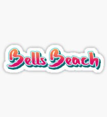 Bells Beach Brush Typography Sticker