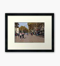 La Rambla in Barcelona Framed Print