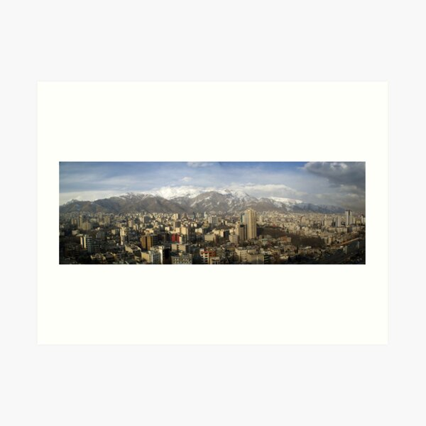 Tehran skyline Art Print