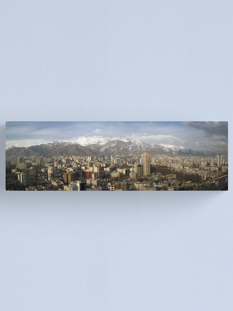 Alternate view of Tehran skyline Canvas Print