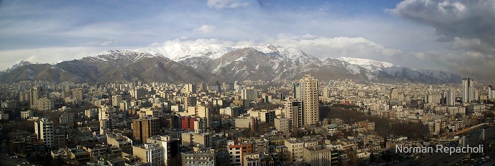 Tehran skyline by Norman Repacholi