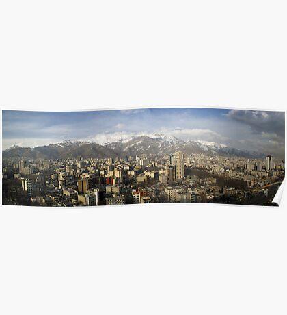 Tehran skyline Poster