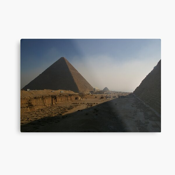 Giza Pyramids Metal Print