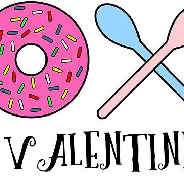 xoxo valentine day donuts by dubdesign