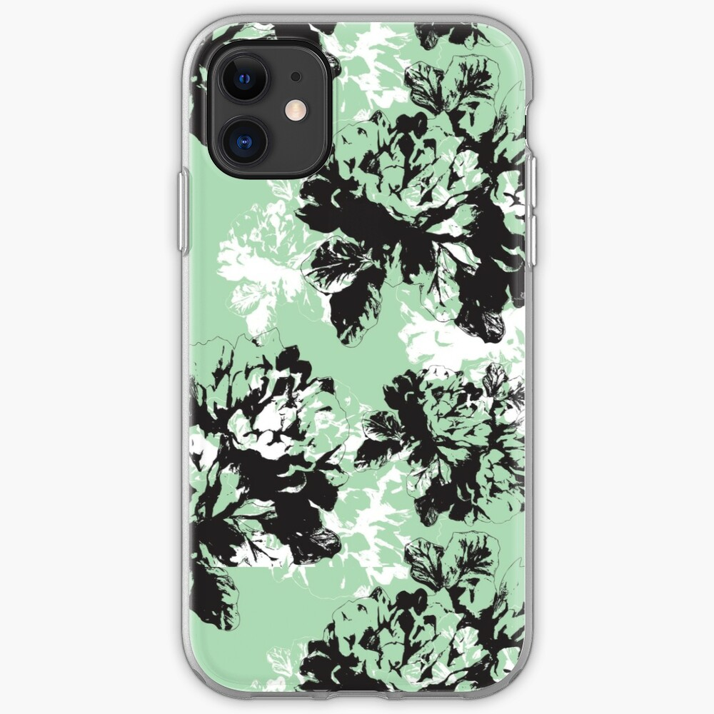 Black and white iPhone Soft Case