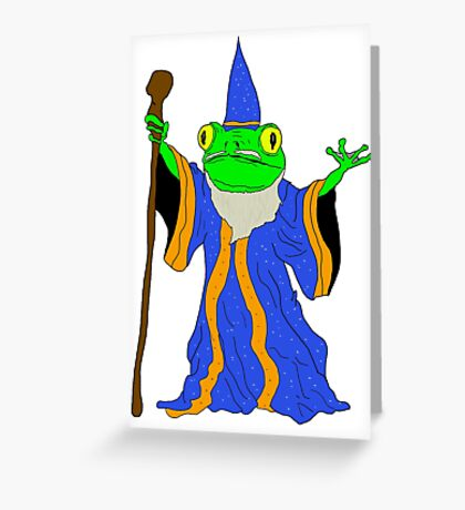The Wizard of the Pond.  Greeting Card