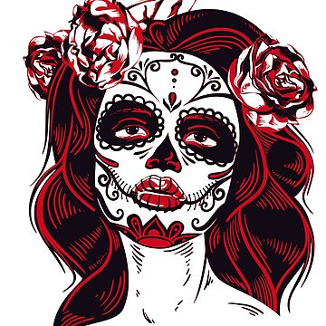 death girl mexico tattoo dead scar death day illustration mask disguise make-up pattern carnival by originalstar