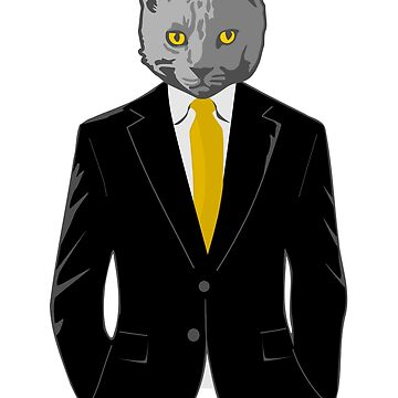 Cat in Business Suit by pda1986