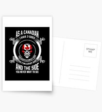 As a Canadian I have 3 sides T Shirt Postcards