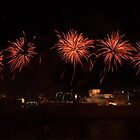 Halo of Fireworks over Fort St. Angelo by Kasia-D