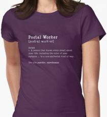 Funny Postal Worker Gifts Women's Fitted T-Shirt
