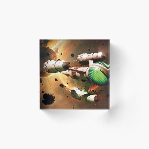 Blake's 7 - Liberator In Space Acrylic Block