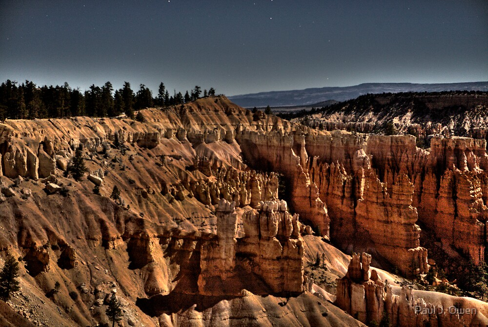 Canyon by Moonlight by Paul J. Owen