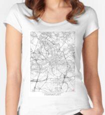 Frankfurt Map Minimal Women's Fitted Scoop T-Shirt