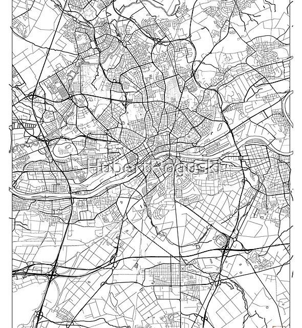Frankfurt Karte Minimal von HubertRoguski
