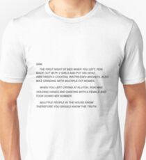 Sammi Sweetheart Letter Unisex T-Shirt