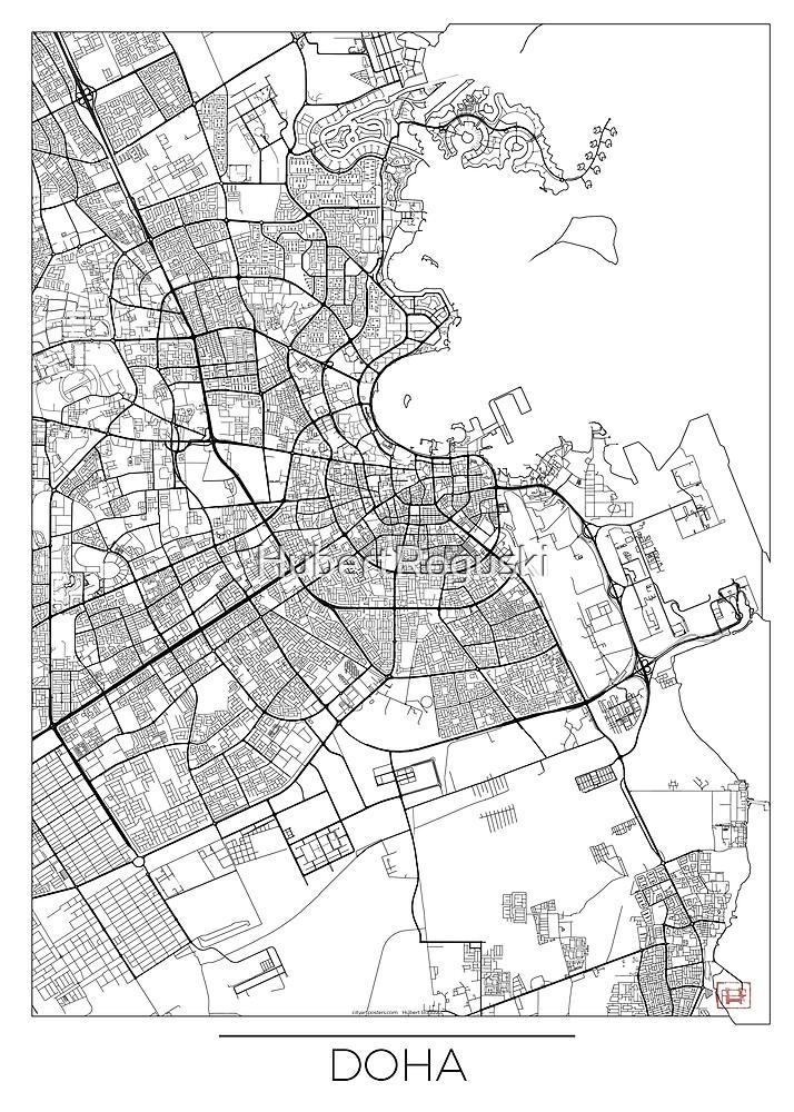 Doha Karte Minimal von HubertRoguski