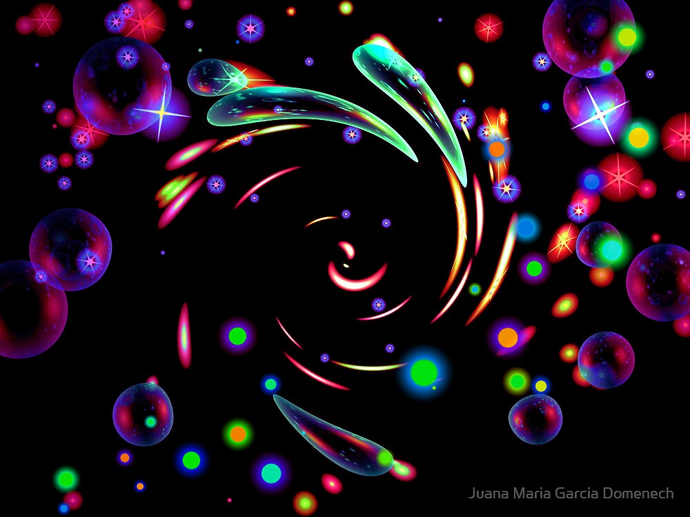 Dancing with The Pleiades. by Juana Maria Garcia Domenech