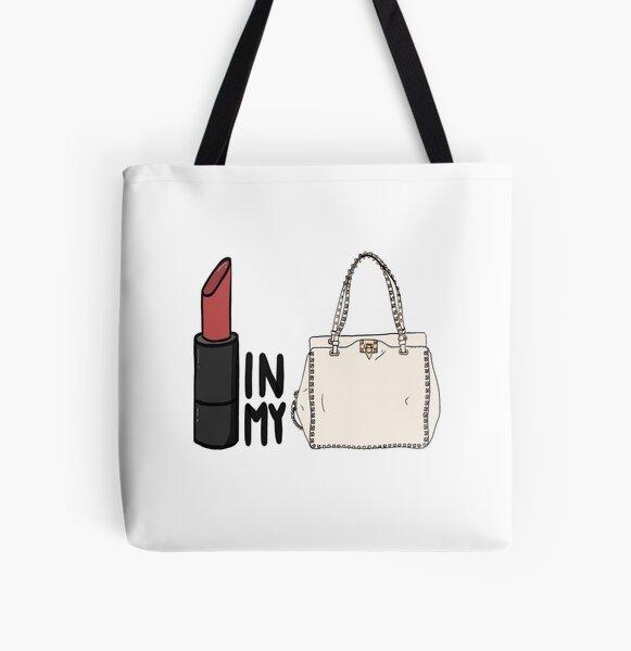 lipstick in my Valentino white bag? All Over Print Tote Bag
