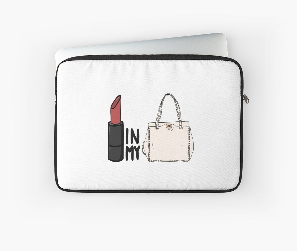 8d58bb8ace92 lipstick in my Valentino white bag