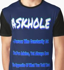 ASKHOLE BLUE Graphic T-Shirt