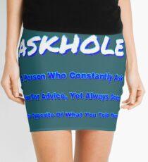 ASKHOLE BLUE Mini Skirt