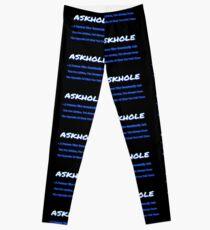 ASKHOLE BLUE Leggings