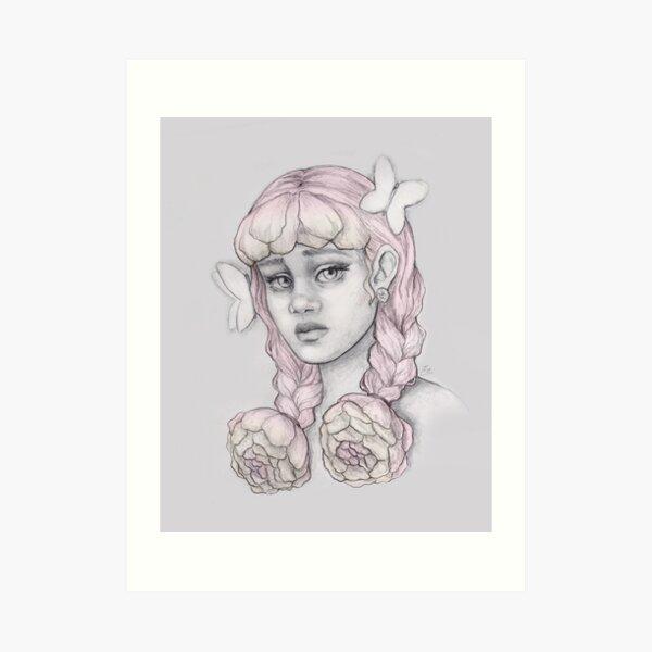 Peony Girl Art Print