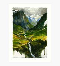 Lámina artística El valle escondido
