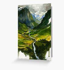 Das verborgene Tal Grußkarte
