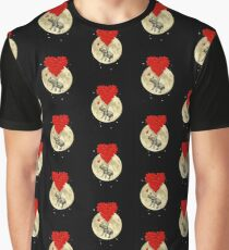 Romantic elephant heart and moon Graphic T-Shirt