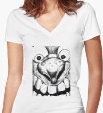 Hi! Close talker Women's Fitted V-Neck T-Shirt