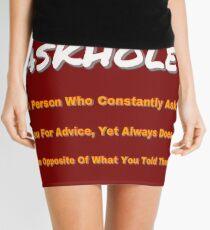 ASKHOLE ORANGE Mini Skirt