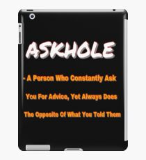 ASKHOLE ORANGE iPad Case/Skin