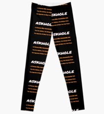 ASKHOLE ORANGE Leggings