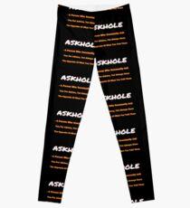 ASKHOLE ORANGE Leggings