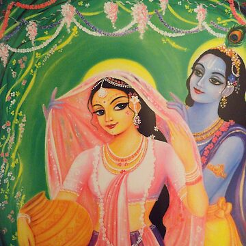 The Divine Couple - Radha and Krishna by AlexBilbija