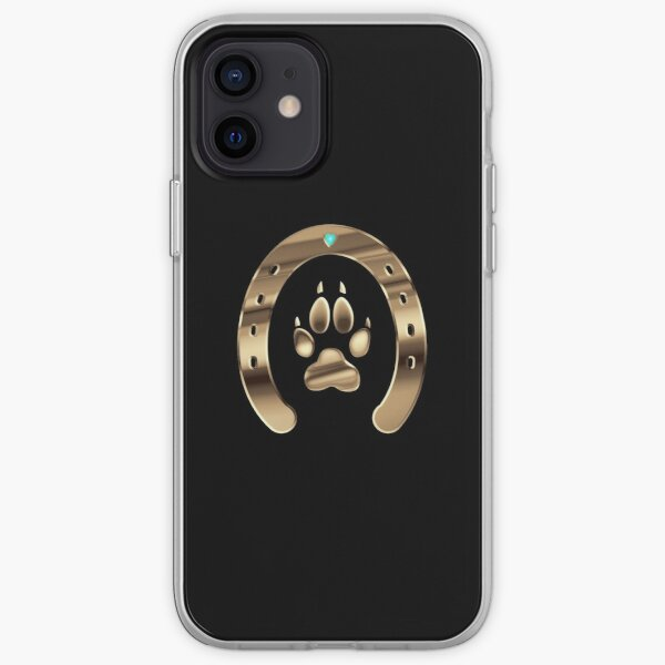 Horse shoe and canine paw print iPhone Soft Case