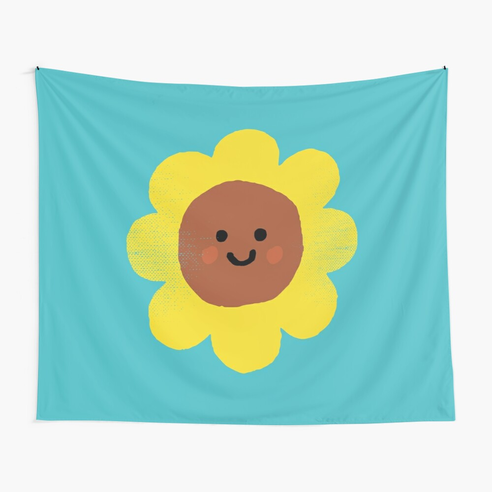 Happy flower Wall Tapestry