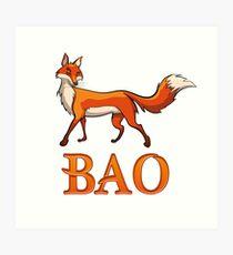 Bao Fox Art Print