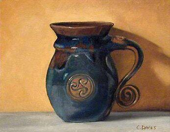 blue decanter by Chris Davies
