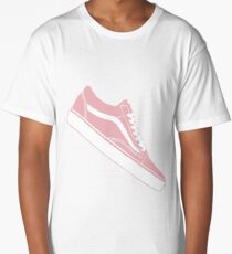 Vans Old Skool Low Top Pink / White Long T-Shirt